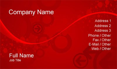 Red Arrows Business Card Template